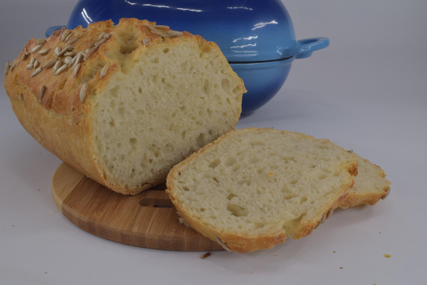 Airy crumb of LoafNest yogurt loaf