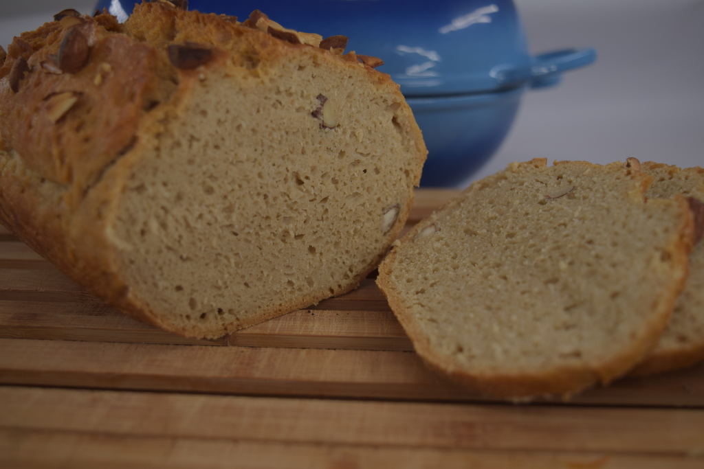Soft smooth crumb of atta bread made with LoafNest